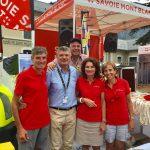 Tour de France avec Savoie Mont Blanc..Tous en jaune !