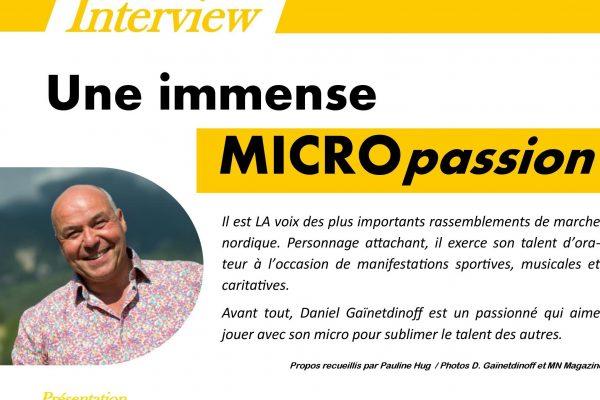 Interview !! Merci à «Marche Nordique Magazine»